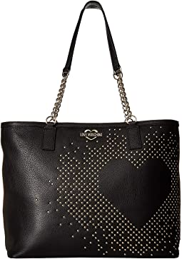 Studded Heart Tote