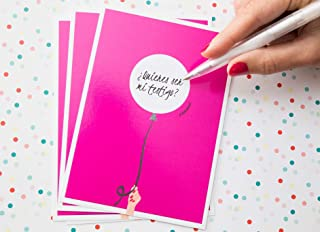 Tarjeta Testigo Boda - Mensaje personalizado - Tarjeta rasca regalo cumpleaños