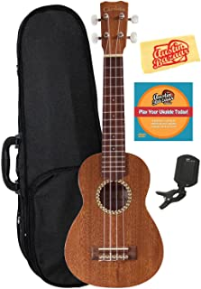 Cordoba 20SM Soprano Ukulele Bundle with Hard Case, Tuner, Austin Bazaar Instructional DVD, and Polishing Cloth