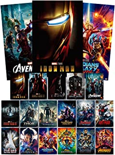 Poster (Lot of 17) Collection Marvel Movie The 10th Anniversary Limited Edition