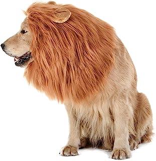 TOMSENN Dog Lion Mane - Realistic & Funny Lion Mane for Dogs - Complementary Lion Mane for Dog Costumes - Lion Wig for Med...