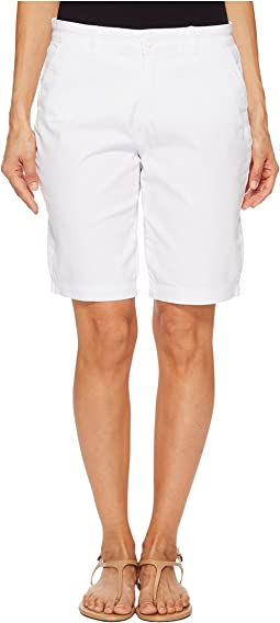 NYDJ Petite Petite Bermuda Shorts in Optic White