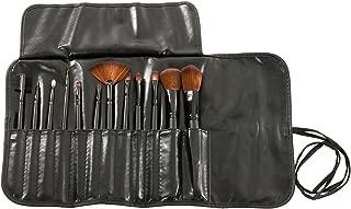 MASH 12pc Studio Pro Makeup Make Up Cosmetic Brush Set Kit w/ Leather Case - For Eye Shadow, Blush, Concealer, Etc