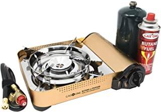 Gas ONE GS-4000P - Camp Stove - Premium Propane or Butane Stove with Convenient Carrying Case, Great for Camp Stove and Portable Butane Stove for All Cooking Application Hurricane Supplies