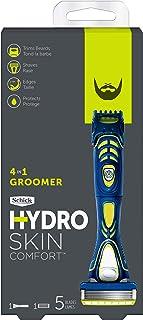 Schick Hydro 5 Beard Groomer, 4-in-1 Power Razor for Men, 1 Handle and 1 Refill