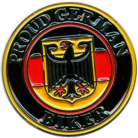 Stolzer German Biker Deutschland Motorrad Fan Metall Badge Pin Anstecker 0671 Auto