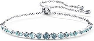 Swarovski Women's Emily Gradient Bracelet, Brilliant Blue and White Crystals, Rhodium Plated Metal, from Swarovski Emily C...