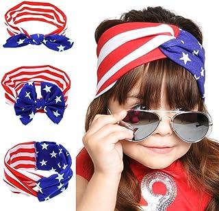 BinaryABC 4th of July Baby Headband,American Flag Headband,Fourth of july Decorations 3Pcs(3)