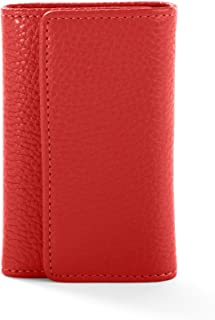 Key Case - Full Grain Leather Leather - Scarlet (red)