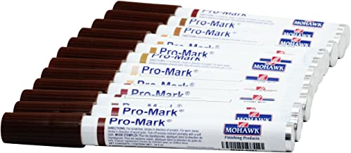 12 Pack Mohawk Pro Mark II Cabinet Furniture Touch Up Stain Marker Kit M267-1204