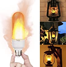 LED Flame Effect Light Bulb, Flickering LED Bulbs E27 Base with Realistic Fire Effect Auto Direction Adjustable Upside Down Decorative Lighting