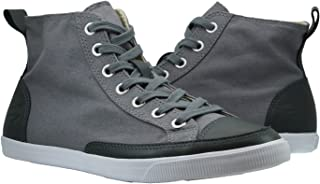 Burnetie Men's Grey High Top Vintage Sneaker
