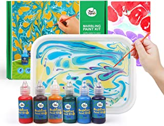 6 Bottles Marbling Inks Ebru Art 19ml Each Creative Toys /& Gifts Art of Painting on Water TBC The Best Crafts Marbling Art Paint Kit Arts and Crafts Paint Set Suminagashi