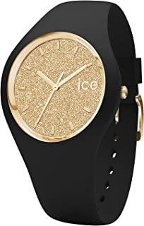 Ice-Watch - ICE Glitter Black Gold - Women's Wristwatch with Silicon Strap