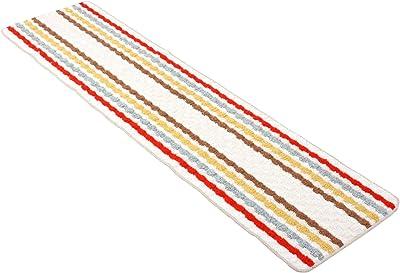 国産 残り糸 キッチンマット 180cm ピンク ベージュ系 ※色パターンランダム 1974
