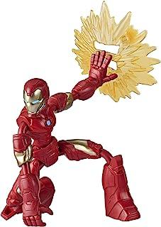 Marvel Avengers Bend and Flex-actiefiguur, flexibele Iron Man-figuur van 15 cm, met blastaccessoire, voor kinderen vanaf 6...