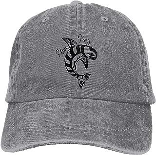 Men Women Killer Whale Vintage Washed Dad Hat Funny Adjustable Baseball Cap