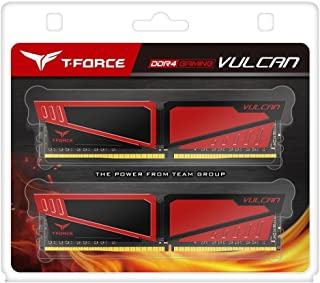 Team T-Force Vulcan 16GB (2 x 8GB) 288-Pin SDRAM DDR4 3000 (PC4 24000) Memory TLRED416G3000HC16CDC01