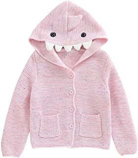 Infant Baby Girls Boys Knit Coat Jacket Cartoon Dinosaur Sweater Winter Warm Outwear for 6 Months - 3 Years