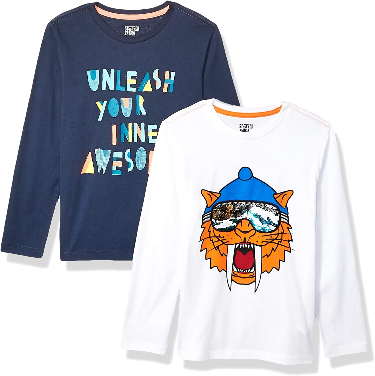 Spotted Zebra 2-Pack Long-Sleeve Novelty T-Shirts Ni/ños Pack de 2