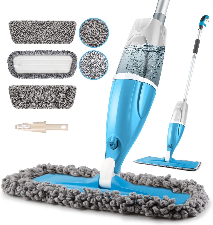 Microfiber Spray Floor Max 65% OFF Mops for 360 Japan Maker New Degr POPTEN Floors Cleaning