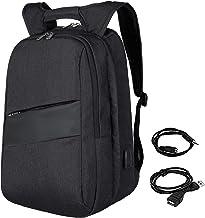 zhi wei Mochila de Ordenador,Mochilas para Portátil de 17 Pulgadas con Puerto de Carga USB,Backpack para MacBook,Negocios, Colegio, Viajes, Hombre y Mujere, Mochilas y Bolsos Negro