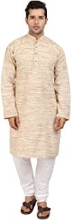Cellora Men's Fashion Kurta Pyjama Khadi Cotton Wear Indian Wedding Kurta Pajama S-5XL