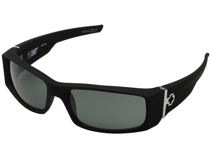 Spy Optic Hielo (Soft Matte Black/Happy Gray Green Polar) Plastic Frame Fashion Sunglasses