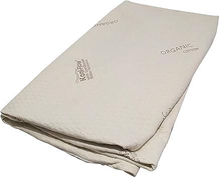 Snuggle-Pedic Memory Foam Mattress Protector – Organic Cotton with Eco-Friendly Greenshield Water