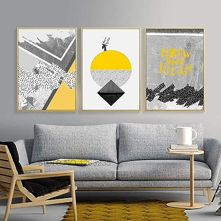Décoration intérieure Maison Toile Art de rose jaune photos ...