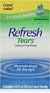 REFRESH TEARS lubricant eye drops 0.5 % 15 ml (2 pack) - Packaging may vary