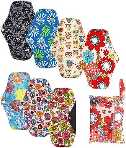 Serviette Hygienique Lavable Reutilisable, Pads Menstruelle Chiffon Nuit, Protection Femme en Fibre Bambou, Pliables ...