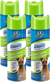 Woolite Heavy Traffic Carpet Foam Cleaner Stain Remover, 4 Pack