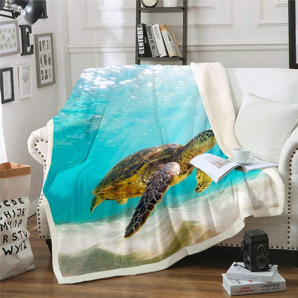 Homewish Sea Creatures Theme Bed Throws Teen Girls Kids Boys 出色 for 完全送料無料