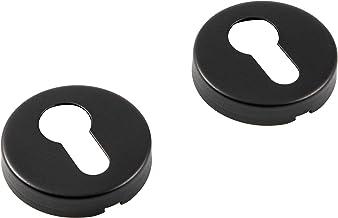 JUVA Cilinderrozet roestvrij staal zwart ronde deurrozet - model H8250 | PZ-cilinder voor kamerdeuren & binnendeuren | mas...