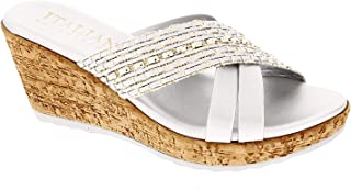 ITALIAN Shoemakers Womens Lyra Fashion Wedge Sandals Made in Italy