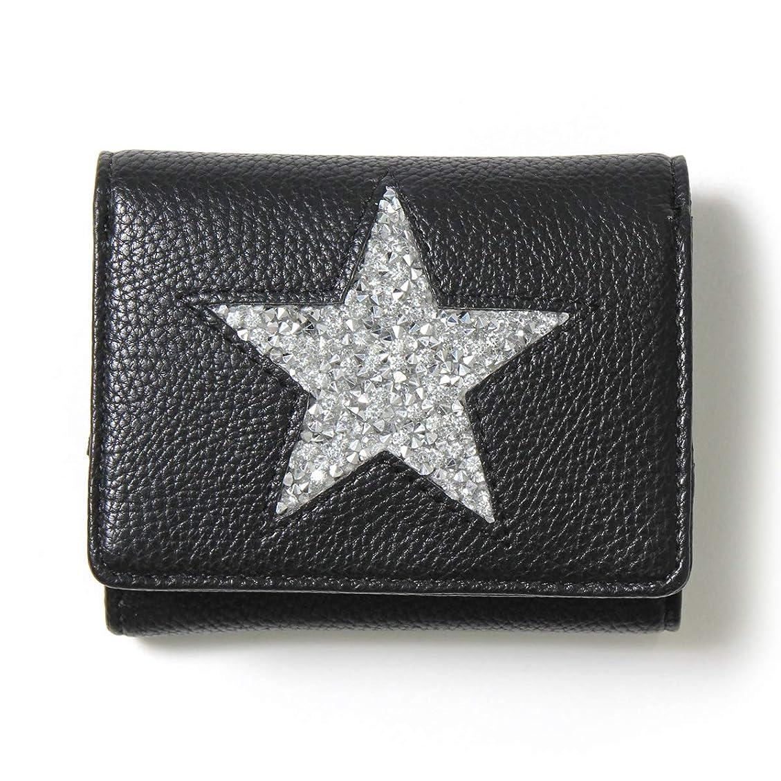 スクリュー寛大さ排除するJOKnet 三つ折り スター ミニ財布 レディース ミニウォレット サイフ 短財布 小さい コンパクト 薄型 軽量 小銭入れ