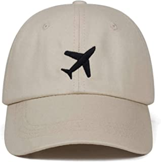 a5c1730c ANDERDM 2019 New Airplane Embroidery hat Men Women 100% Cotton Dad Hats  Adjustable Baseball Cap
