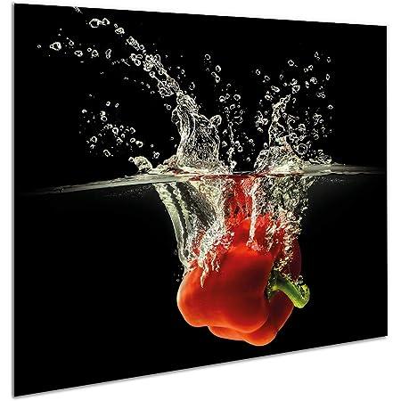 Plateau de protection universel pour plaques de cuisson en verre trempé de 4 mm, pour verre, céramique, induction 1 Pi?ces 60 x 52 cm   Planche ? Découper   protection murale en verre dans la cuisine