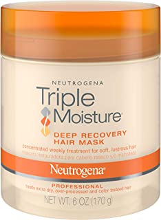 Neutrogena - Mascarilla hidratante para cabello extra seco, cabello dañado y sobreprocesado, tratamiento hidratante del cabello con oliva., Mascarilla de recuperación capilar profunda (paquete de 2), Básico