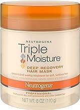 Neutrogena ترمیم کننده رطوبت ترمیم کننده مرطوب کننده مو برای موهای خشک و موی خشک و مو بیش از حد، موهای خشک شده با روغن زیتون، میادوفوم و بادام شیرین، 6 اونس (بسته 2)