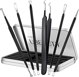 Ellesye Blackhead Remover,6 PCS Pimple Popper Tool with a Metal Storage Box,Stainless Steel Pimple Extractor Blackhead Rem...