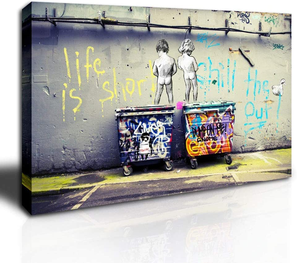 HLJ Max 78% OFF ART Banksy Canvas Wall Decor Picture Pri Large Painting Size Charlotte Mall
