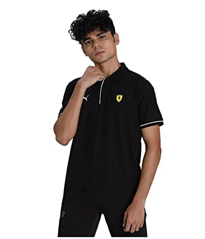 PUMA Scuderia Ferrari Race Polo (PUMA Black) Men