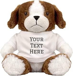 Custom Text Cute Puppy Gift: 8 Inch Puppy Dog Stuffed Animal