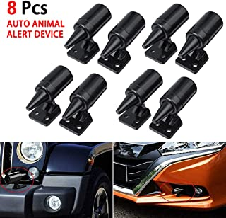 Ternence Flynn 8PCS Deer Whistles Deer Warning Devices, Save a Deer Whistles Safety Accessories for Car Vehicles Motorcycles (Black)