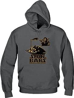 BSW Men's Star Bars Wars Yoda Darth Vader Beer Drink Hoodie LRG Charcoal