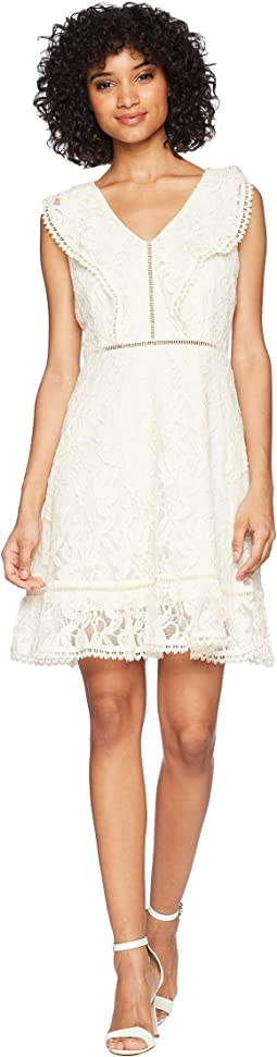 Rease Ruffle Detail Fit and Flare Dress