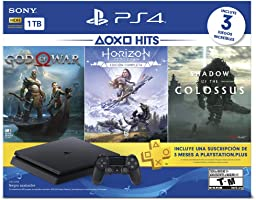 PlayStation 4 Hits 1TB con 3 juegos: God of War, Horizon Zero Dawn, Shadow of the Colossus - Bundle Edition