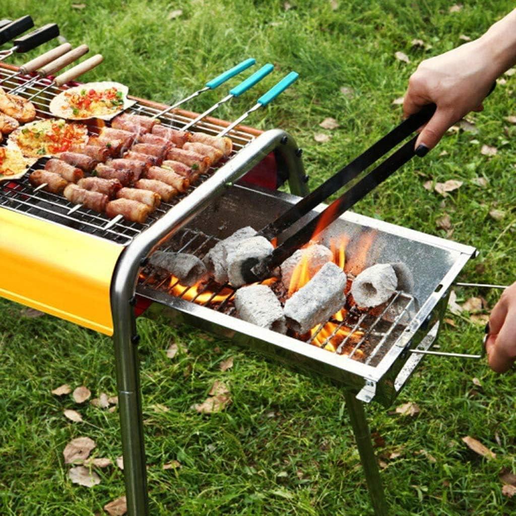 Barbecue, Barbecue, Barbecue charbon domestique, Plein Air portable Barbecue sauvage (adapté for plus de 3 personnes) @ (Couleur: Or) (Couleur: Gold) HAOSHUAI (Color : Black) Black